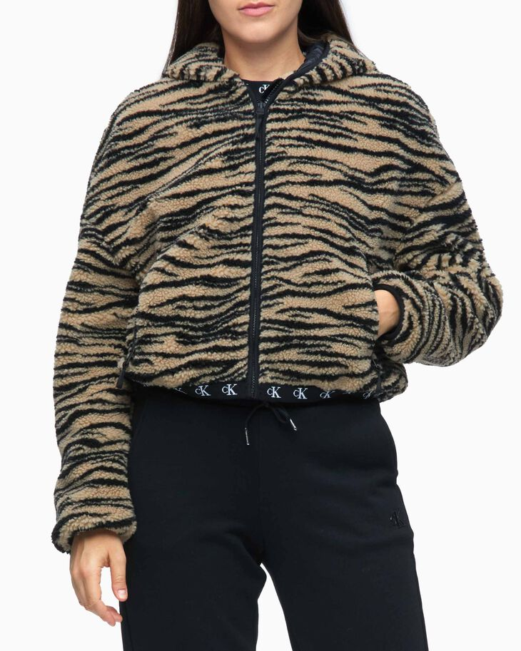 CALVIN KLEIN URBAN ANIMAL POLAR SHERPA JACKET