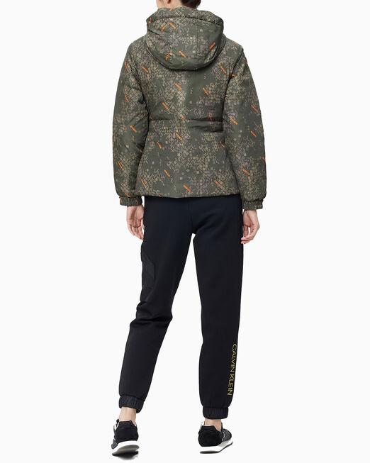 CALVIN KLEIN 여성 에이오피 리버서블 다운 자켓