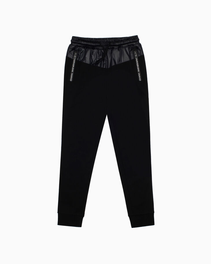 CALVIN KLEIN BOYS MIXED FABRIC PANTS