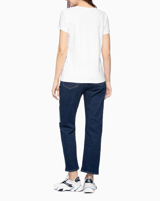 CALVIN KLEIN 여성 리피트 디그레이드 로고 반팔 티셔츠