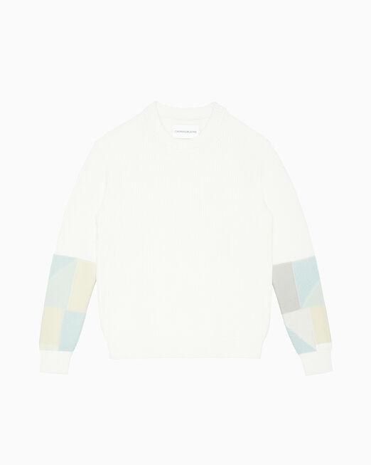 CALVIN KLEIN PATCHWORK 슬리브 스웨터