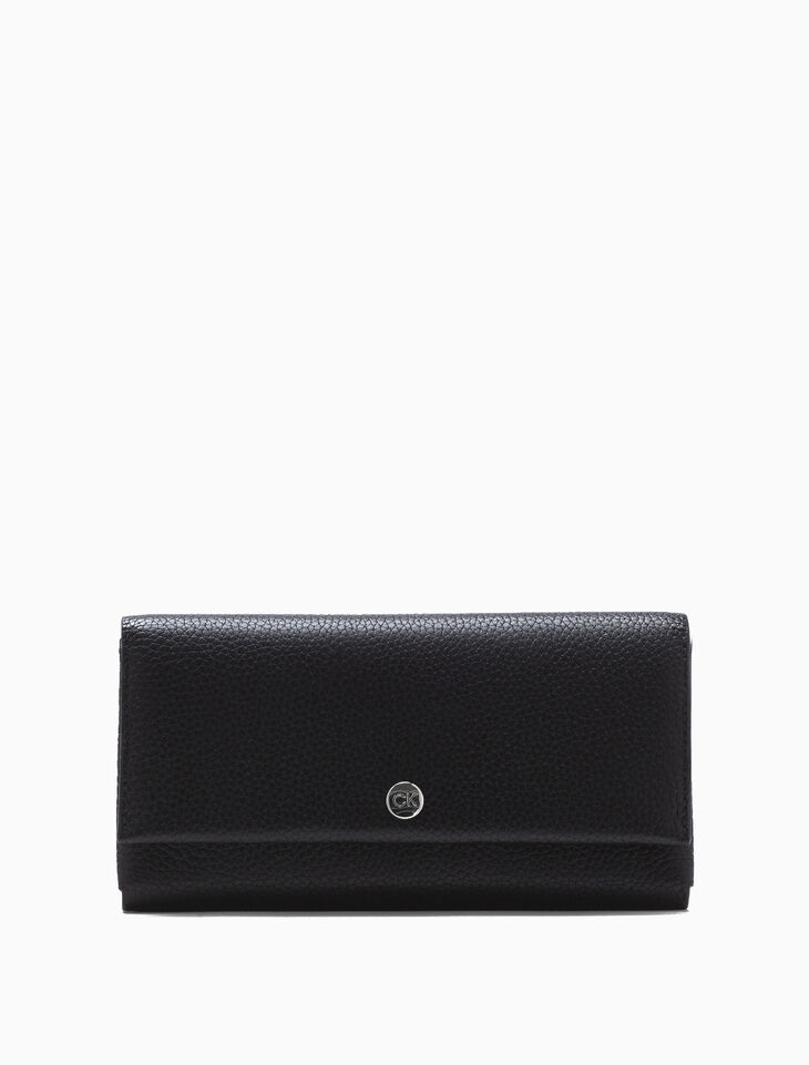 CALVIN KLEIN LONG FLAP WALLET WITH CARD CASE