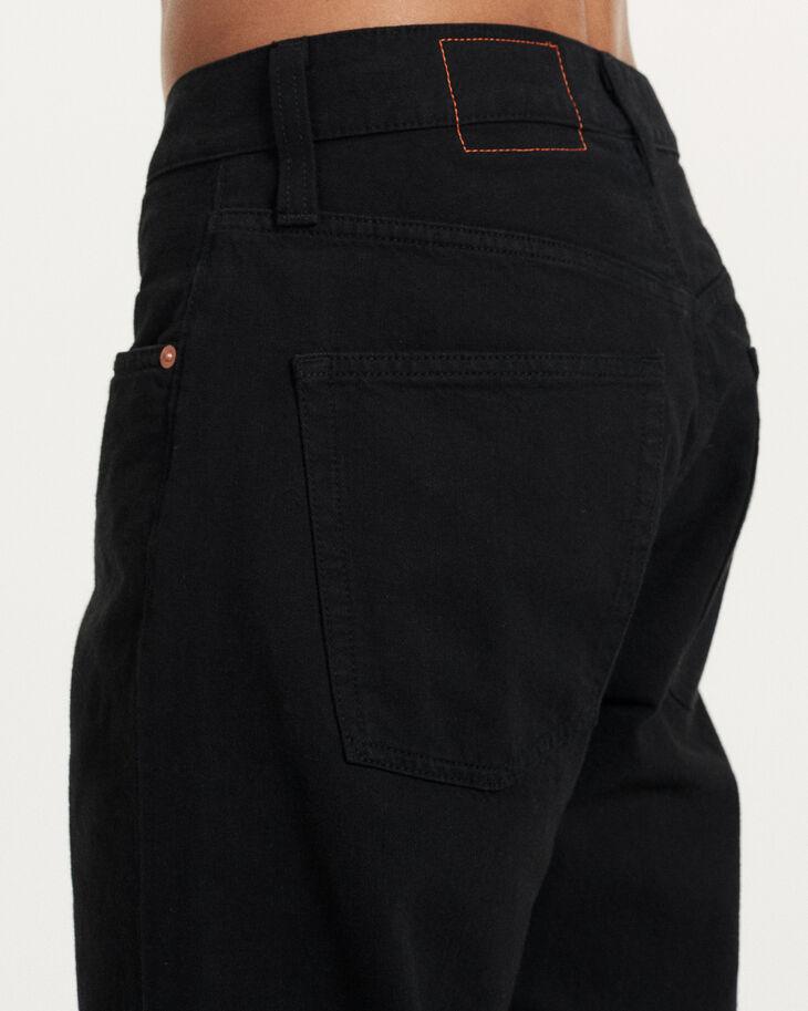 CALVIN KLEIN GARMENT-DYED CANVAS 直筒牛仔褲