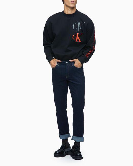 CALVIN KLEIN 남성 CK 에코 패션 모크넥 풀오버