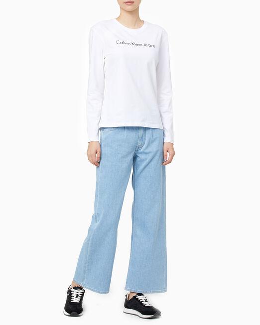 CALVIN KLEIN 여성 모던 슬림핏 긴팔 티셔츠