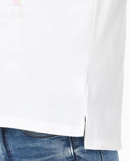 CALVIN KLEIN 여성 이리데슨트 CK 스트레이트 티셔츠