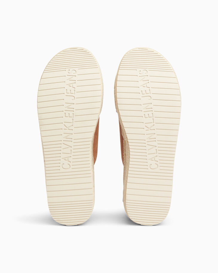 CALVIN KLEIN CHUNKY LEATHER ESPADRILLE SANDALS