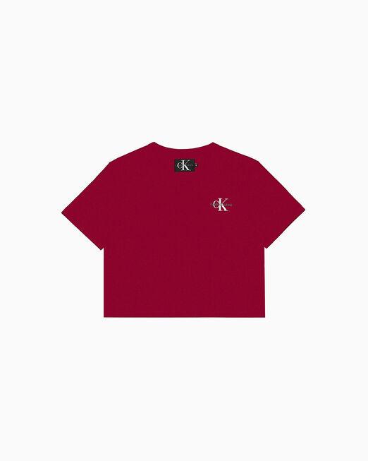 CALVIN KLEIN EMBROIDERED MONOGRAM 티셔츠