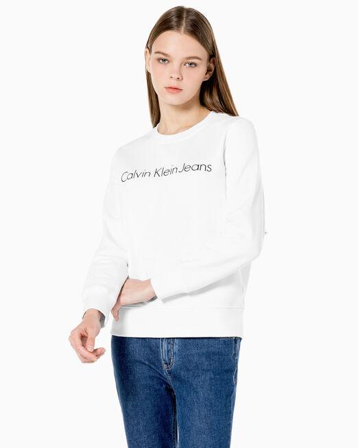 CALVIN KLEIN 여성 인스티튜셔널 로고 스웨트셔츠