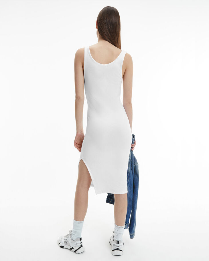 CALVIN KLEIN THE BASICS MICRO LOGO RIB DRESS