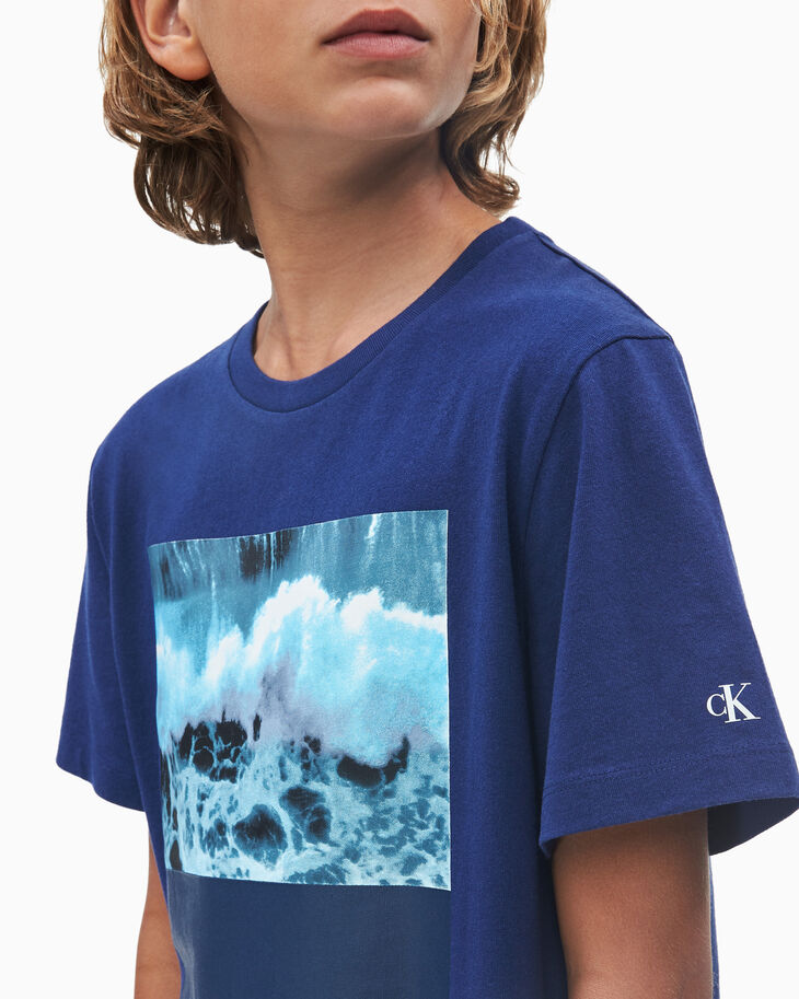 CALVIN KLEIN BOYS PHOTO PRINT T シャツ