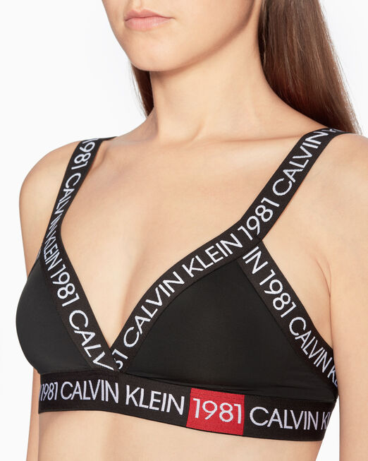 CALVIN KLEIN CK1981 BOLD LIGHTLY LINED 트라이앵글 브라렛