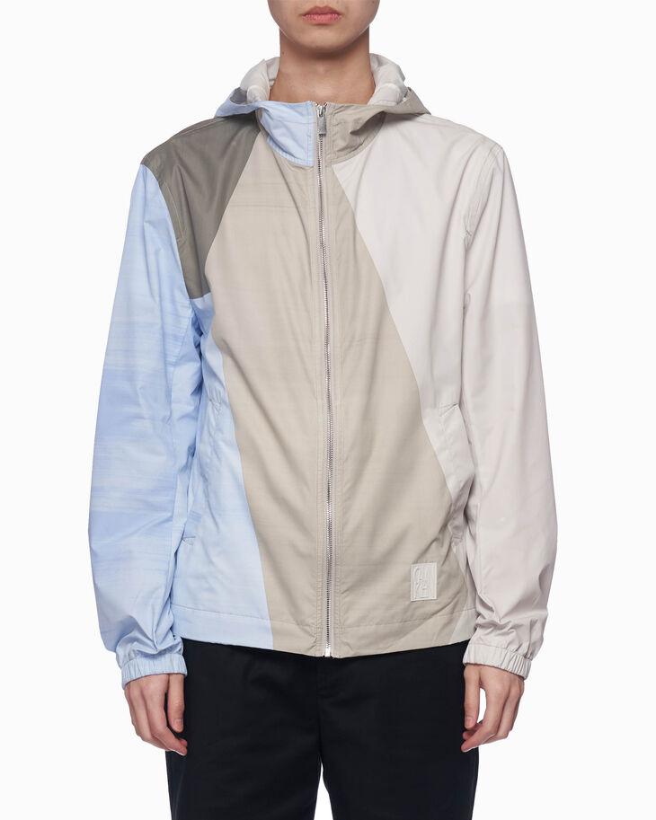 CALVIN KLEIN ジオメトリック カラーブロック フード付きジャケット