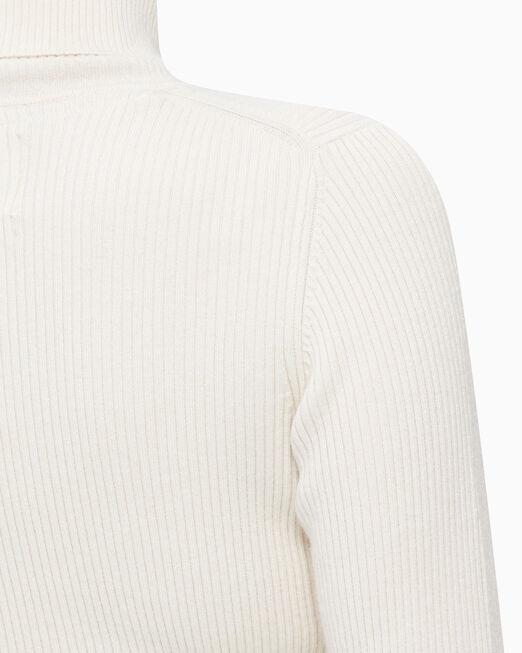 CALVIN KLEIN 여성 립 터틀넥 스웨터