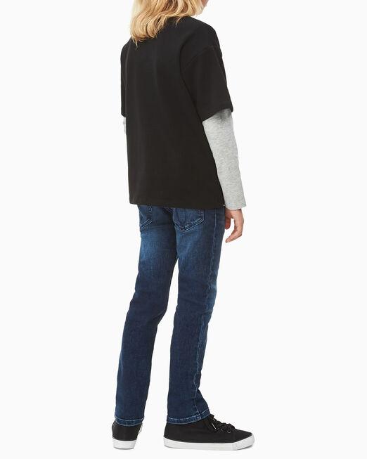 CALVIN KLEIN 남아용 버팔로 체크 박스 티셔츠