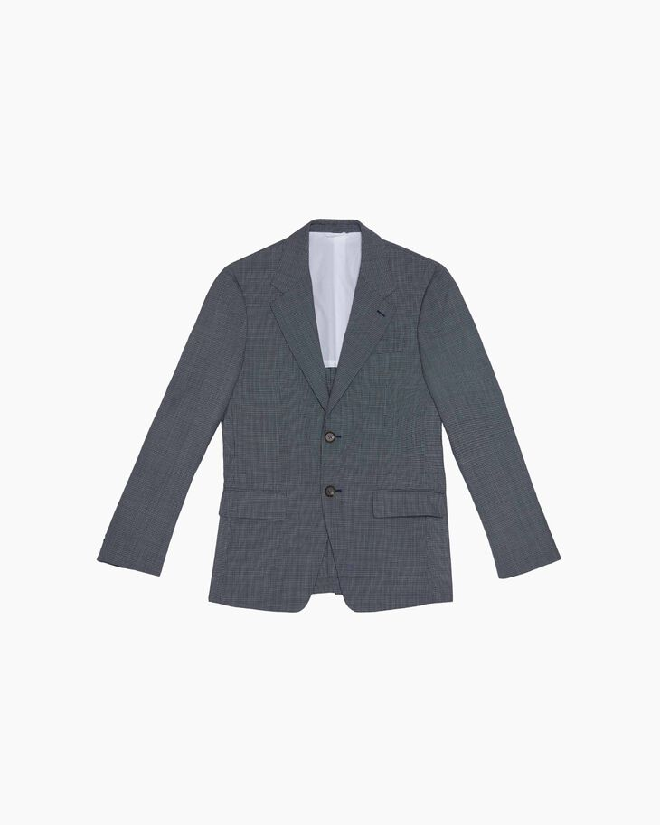 CALVIN KLEIN WOOL PINCHECK JACKET - FULLY LINED