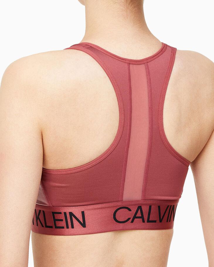 CALVIN KLEIN ACTIVE ICON FRONT ZIP SPORTS BRA