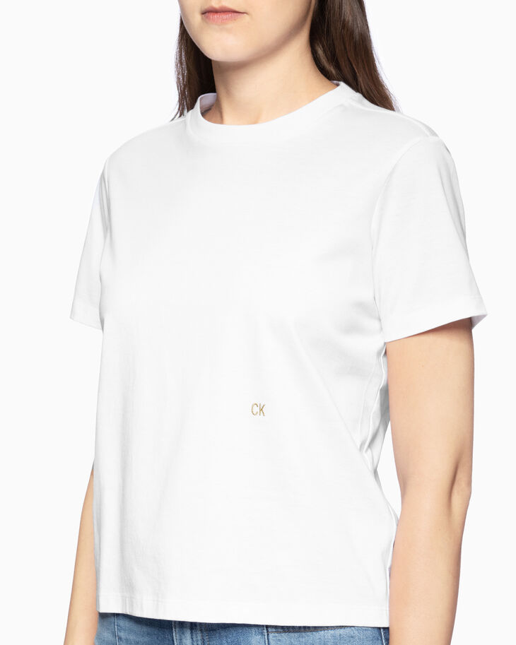 CALVIN KLEIN PREMIUM LACE-UP BACK TEE