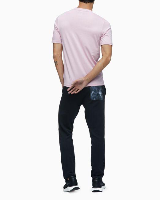 CALVIN KLEIN 남성 레귤러 핏 리니어 로고 반팔 티셔츠