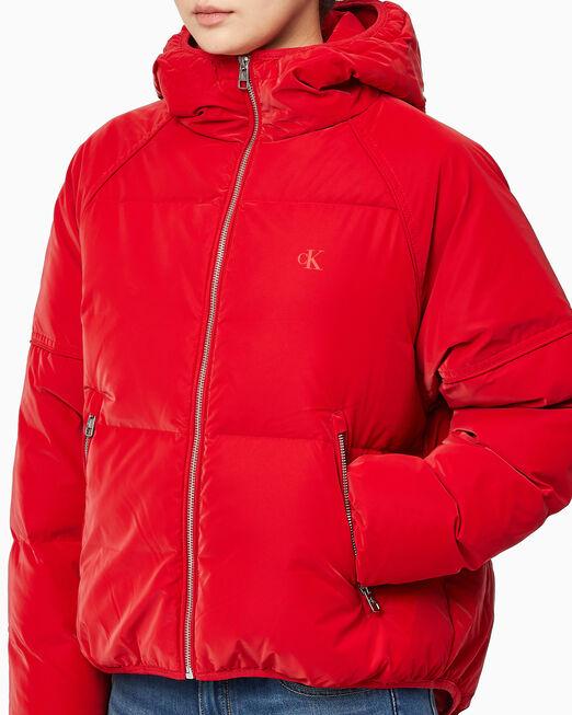 CALVIN KLEIN 여성 소프트 터치 다운 푸퍼 재킷