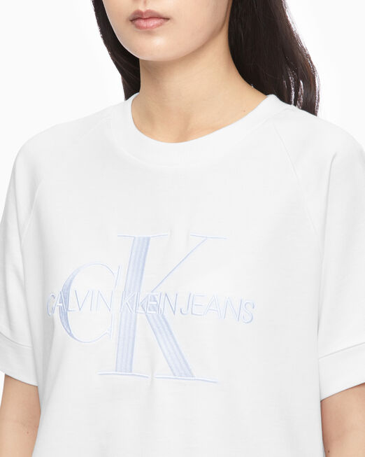 CALVIN KLEIN MONOGRAM EMBROIDERY 반소매 스웨트셔츠