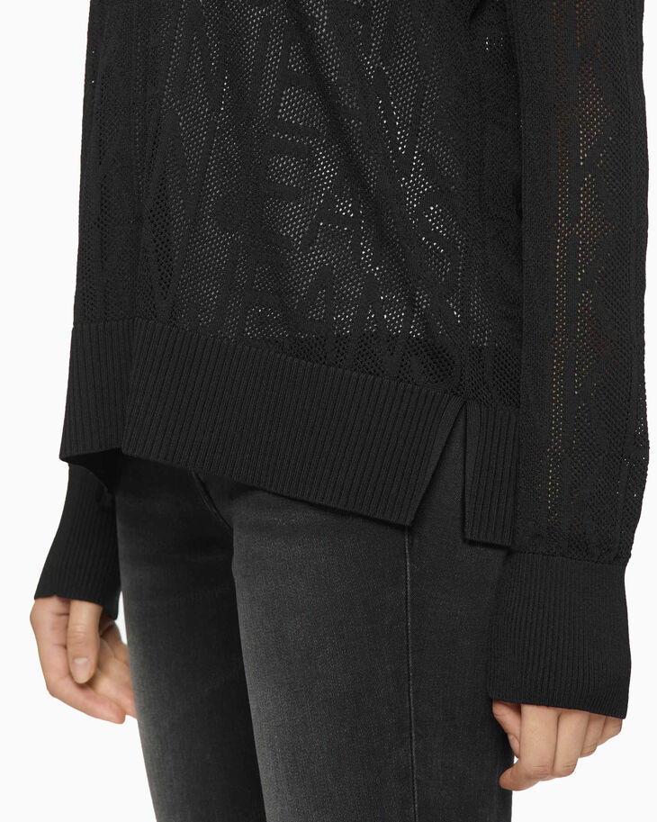 CALVIN KLEIN RELAXED MESH SWEATER
