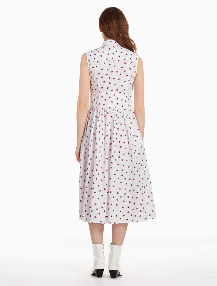 CALVIN KLEIN STAR PRINT SLEEVELESS DRESS