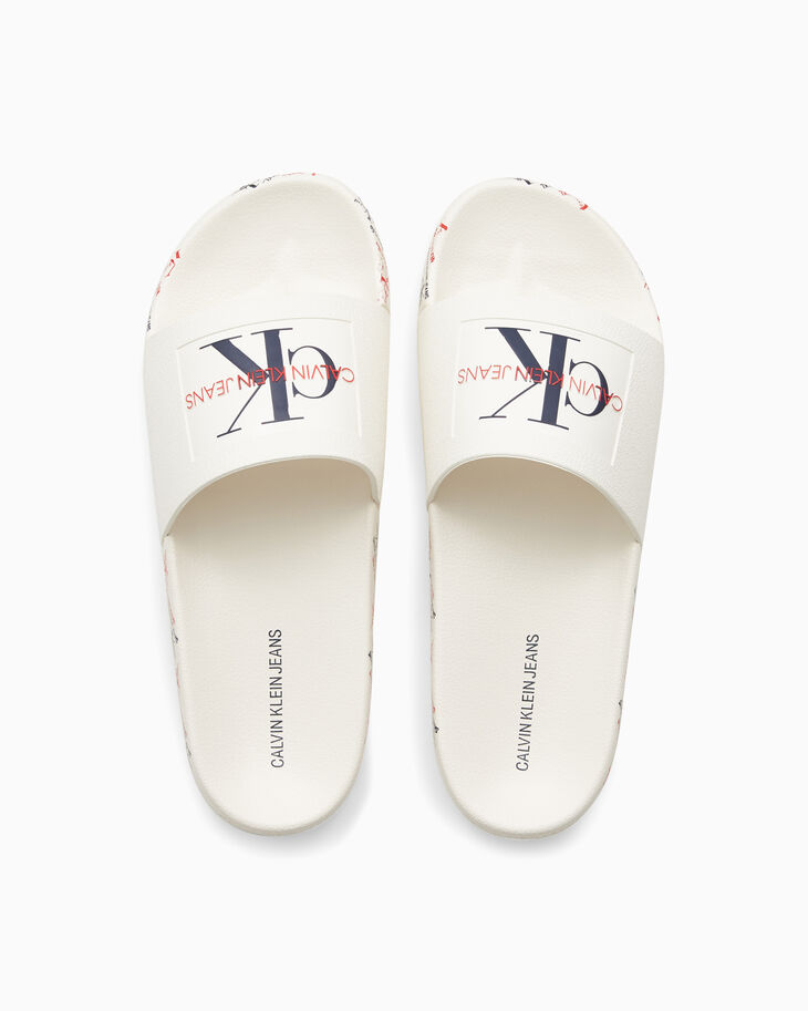CALVIN KLEIN MONOGRAM SLIDERS