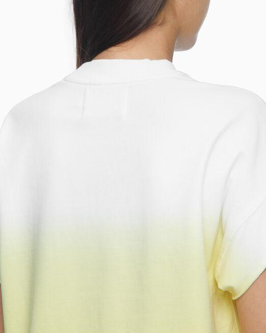 CALVIN KLEIN 여성 옴브레 그래픽 로고 크루넥 티셔츠