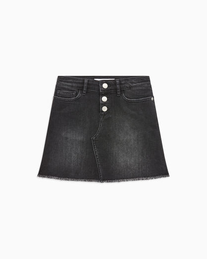 CALVIN KLEIN BLACK A LINE DENIM SKIRT