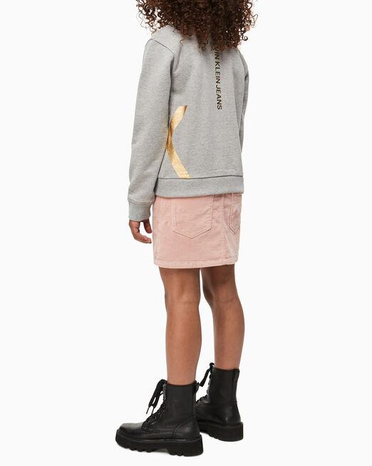 CALVIN KLEIN 여아용 포일 로고 스웨트셔츠