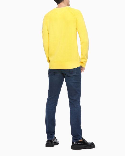 CALVIN KLEIN 남성 오버다이드 스웨터