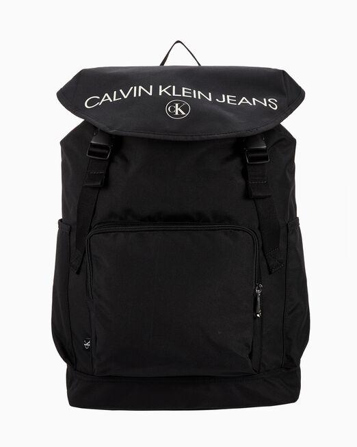 CALVIN KLEIN 남성 SE Inst 로고 플랩 백팩 40
