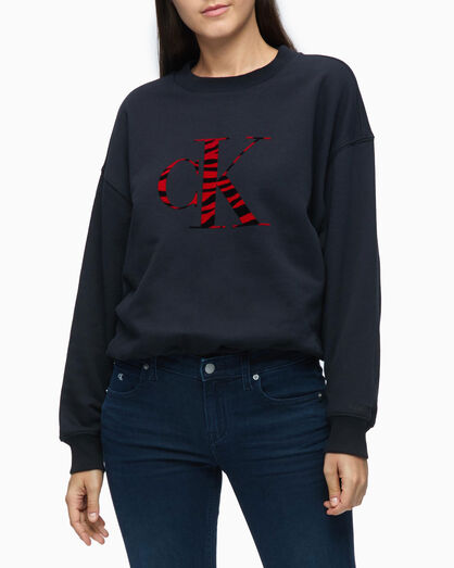 CALVIN KLEIN URBAN ANIMAL LOGO SWEATSHIRT