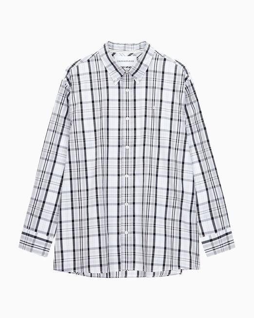 CALVIN KLEIN 남성 릴렉스핏 체크 우븐 셔츠