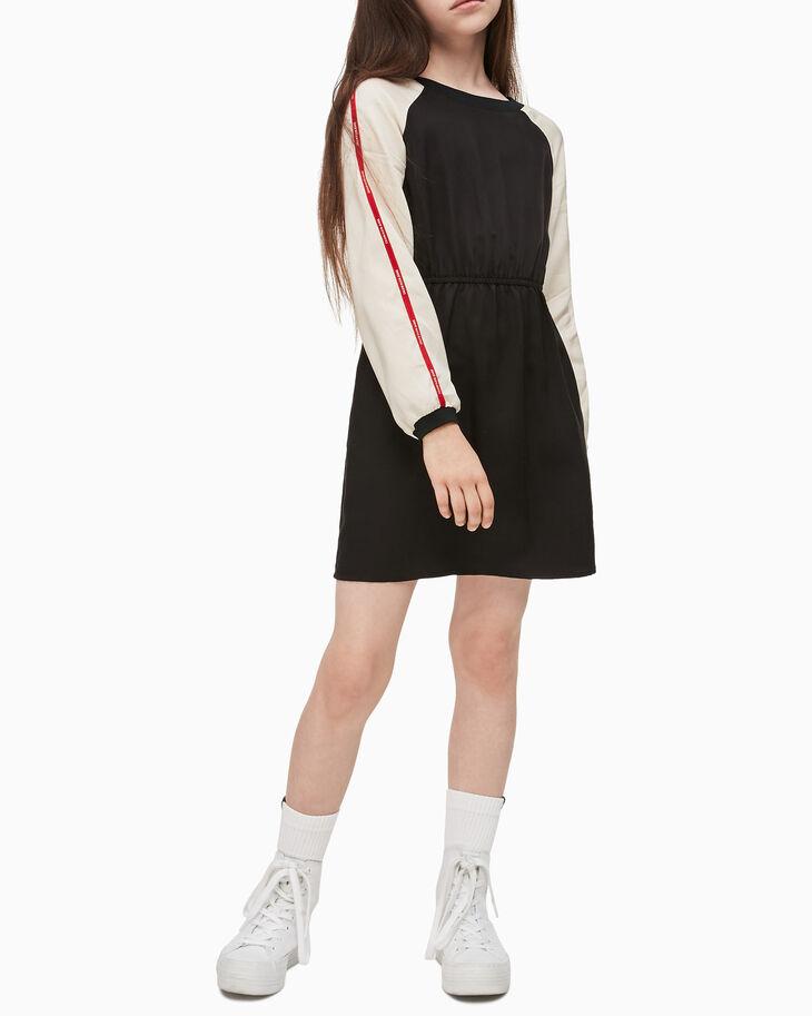 CALVIN KLEIN GIRLS LOGO TAPE RAGLAN DRESS