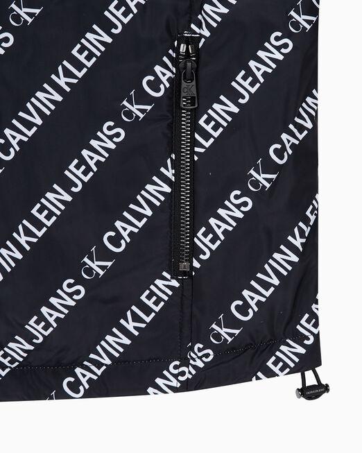 CALVIN KLEIN 여성 메탈릭 리버서블 윈드브레이커 재킷