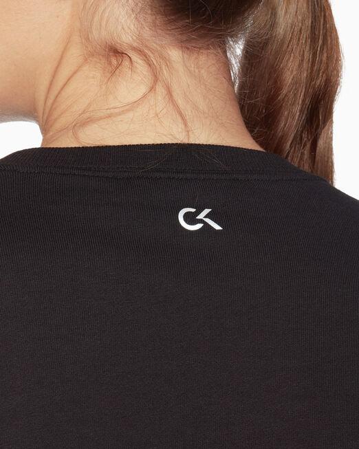 CALVIN KLEIN 그래픽 로고 크롭 스웨트셔츠