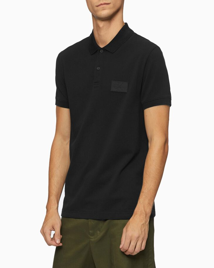 CALVIN KLEIN MONOGRAM PATCH POLO SHIRT