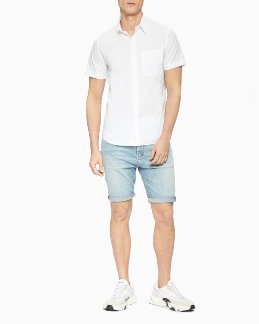 CALVIN KLEIN 남성 레귤러핏 컬러 시어서커 우븐 셔츠