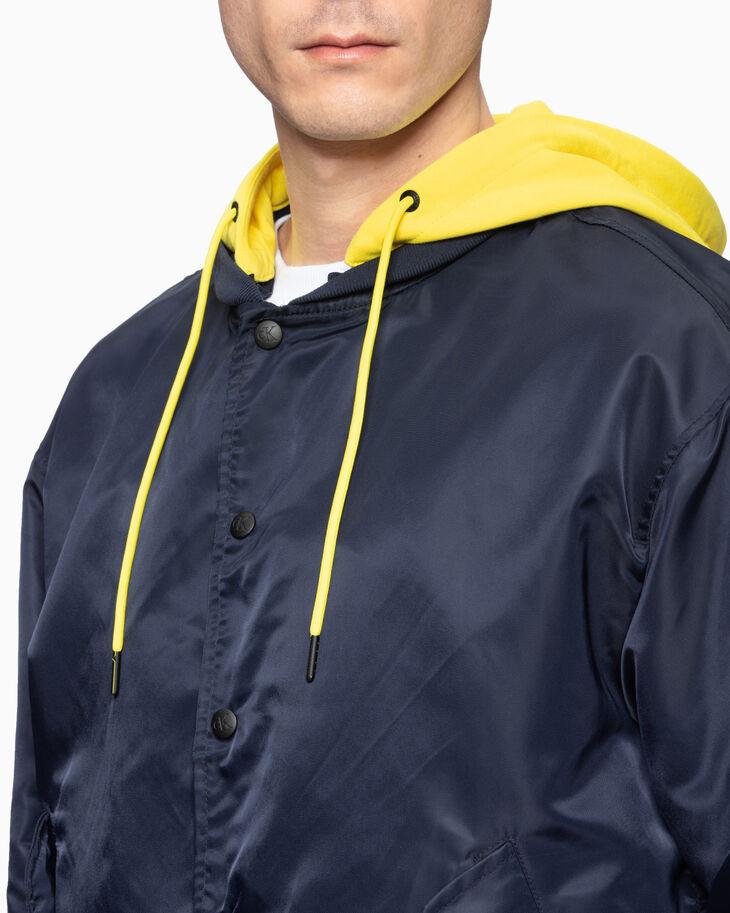 CALVIN KLEIN SWEATSHIRT フード付きボンバージャケット