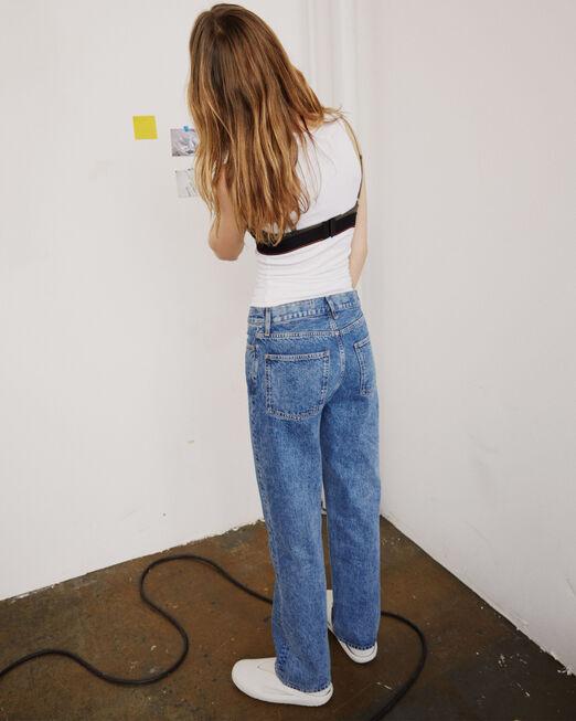 CALVIN KLEIN 여성 프로젝트 오렌지 90's 핏 인디고 데님(인디고)