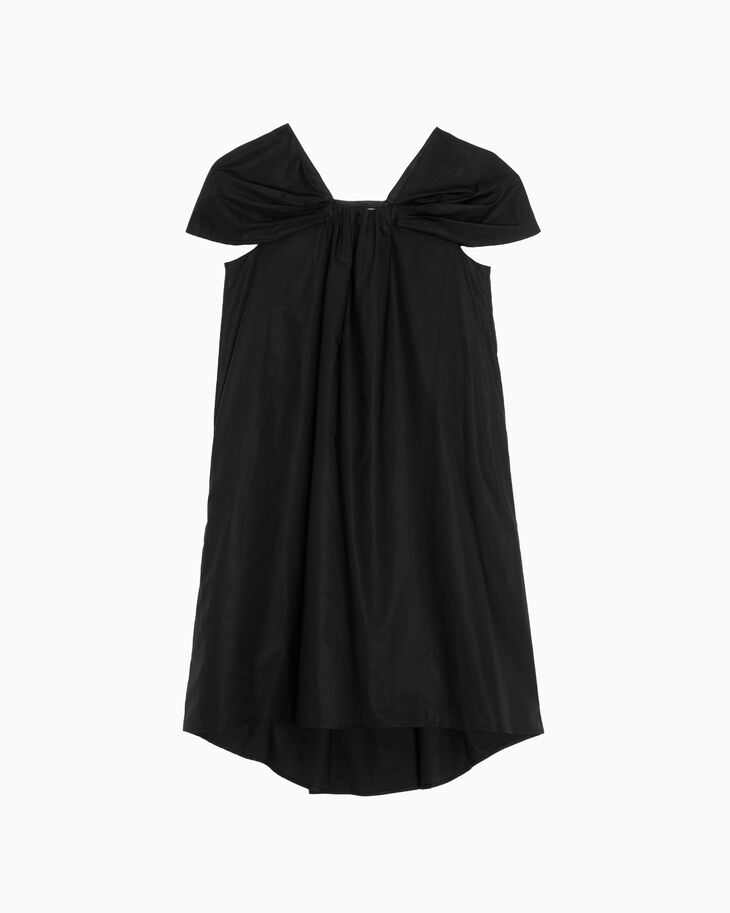 CALVIN KLEIN CONSTRUCTED POPLIN DRESS