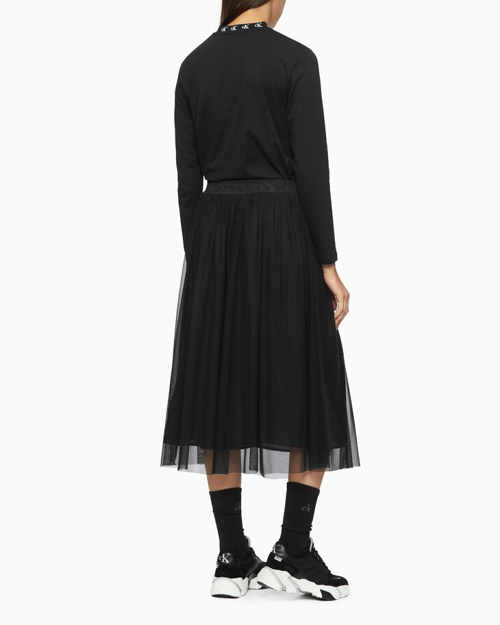 CALVIN KLEIN DOUBLE LAYER MESH SKIRT