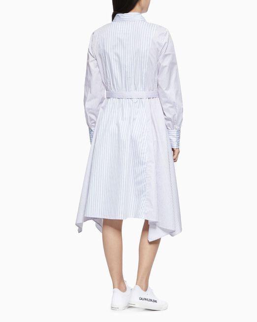 CALVIN KLEIN 여성 에이시메트릭 셔츠 드레스