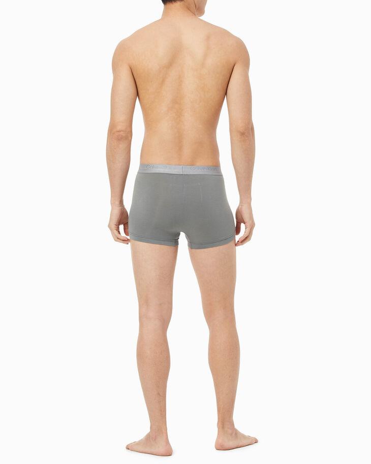CALVIN KLEIN CK BLACK SILK KNIT 低腰貼身短版四角褲