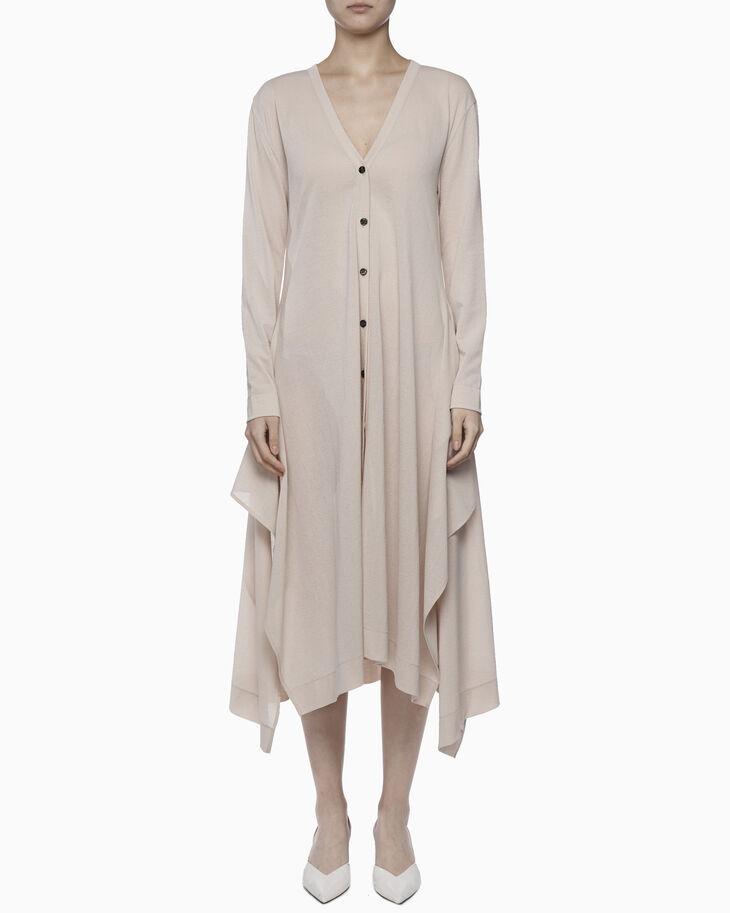 CALVIN KLEIN LIGHTWEIGHT CREPE 開襟洋裝