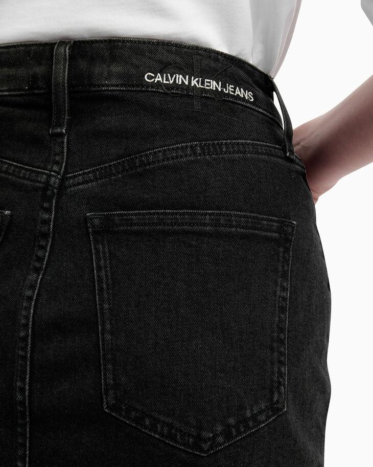 CALVIN KLEIN REFLECTION HIGH RISE MIDI SKIRT