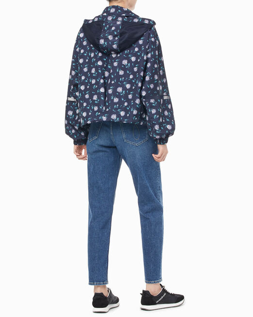 CALVIN KLEIN 여성 로즈 패턴 크롭 재킷