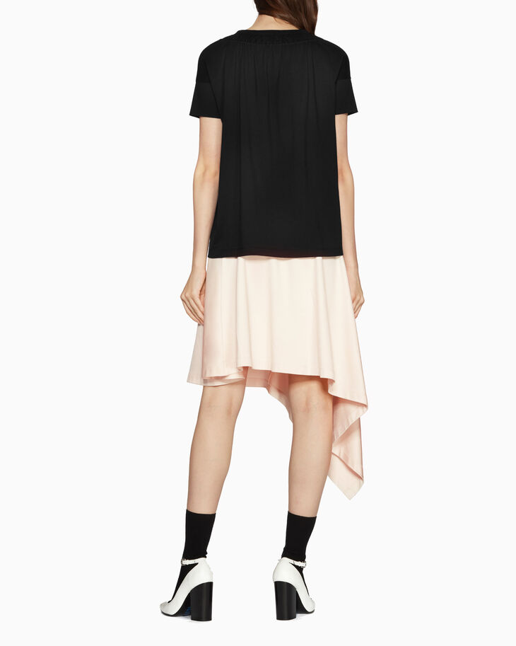 CALVIN KLEIN SOFT JERSEY RUCHED TOP
